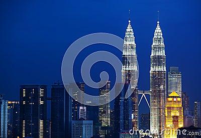 Cityscape of Kuala Lumpur, Malaysia.