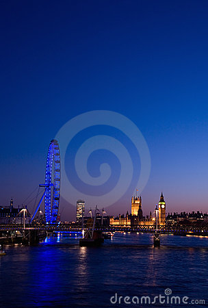 Cityscape of London Editorial Stock Image