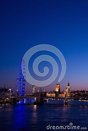 Cityscape london Redaktionell Fotografering för Bildbyråer