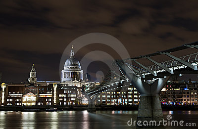 Cityscape of London at night Editorial Image