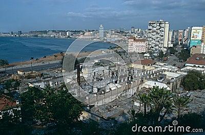 Cityscape of Luanda, Angola Editorial Image
