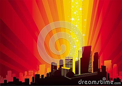 Cityscape & magic phenomenon