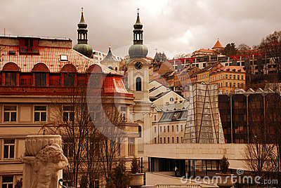 Cityscape with Mary Magdalene church(Karlovy Vary)