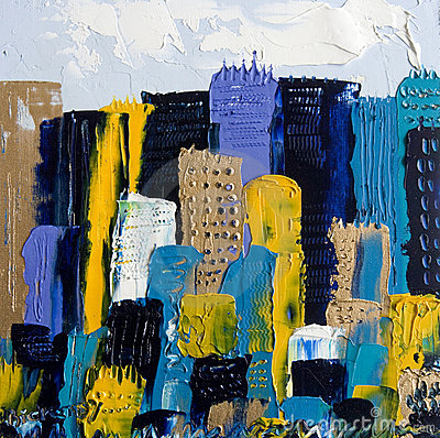 Cityscape in Oil