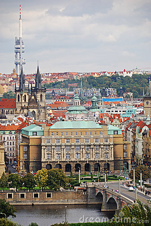 Cityscape of old Prague, Europe