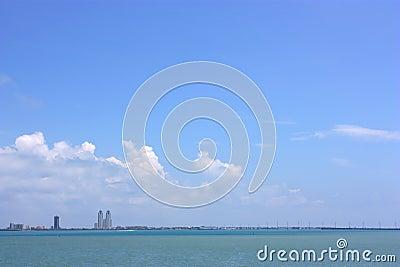Cityscape of Padre Island, Texas