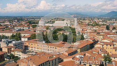 Cityscape of Pisa и его достопримечательности сток-видео