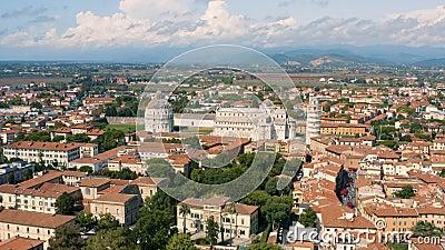 Cityscape of Pisa и его достопримечательности видеоматериал