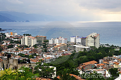 Cityscape in Puerto Vallarta, Mexico