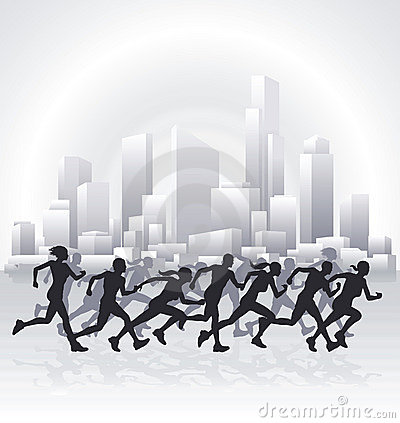 Cityscape runners