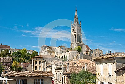 Cityscape of Saint-Emilion, France.