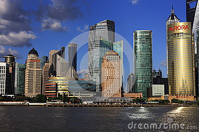 Cityscape of shanghai Editorial Stock Photo