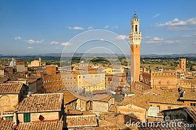Cityscape of Siena