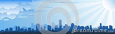 Cityscape skyline