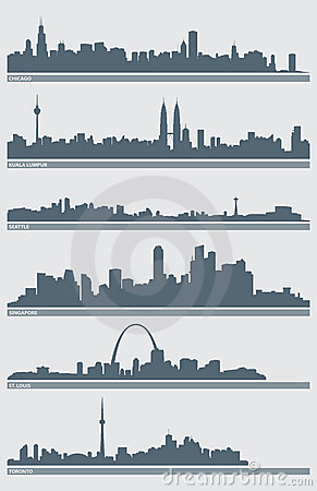 cleveland skyline vector. CITYSCAPE SKYLINE VECTOR