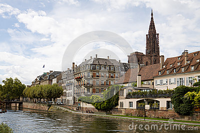 Cityscape in Strasbourg. Alsace, France
