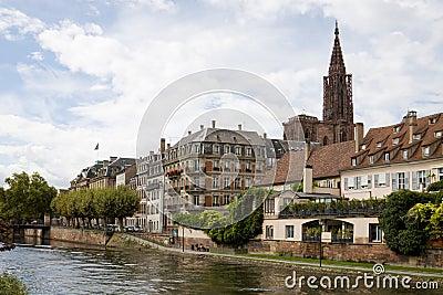 Cityscape in Strasbourg. Alsace, France