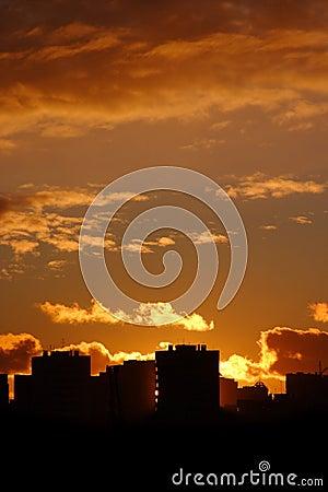 Free Cityscape Sunset Stock Photography - 2500172
