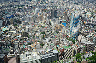 Cityscape of tokyo