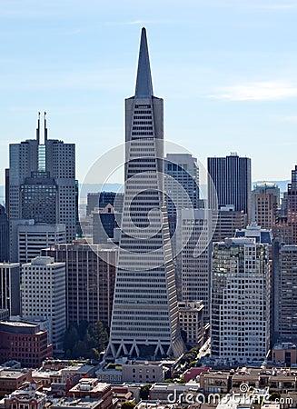 Free Cityscape Transamerica Pyramid San Francisco Royalty Free Stock Photo - 23779455
