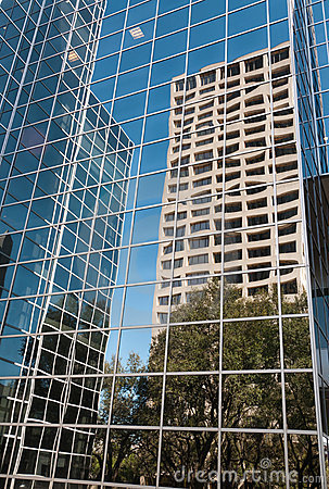 Cityscape: Urban Reflections in Highrise Glass