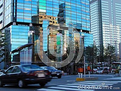 Cityscape van de schemer