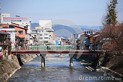 Cityscape view of Takayama downtown Editorial Photography