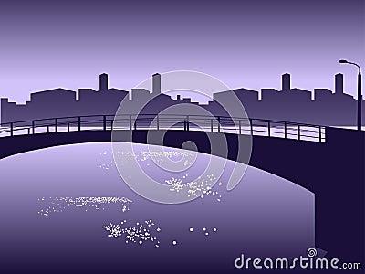 Cityscape waterside.