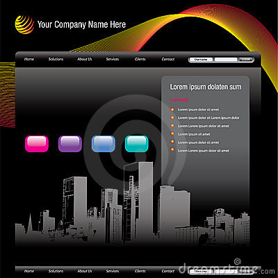 Cityscape website template