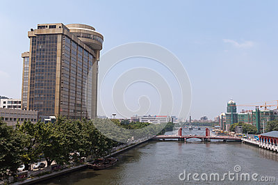 Cityscape of Zhongshan Editorial Image