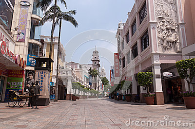 Cityscape of Zhongshan Editorial Stock Image
