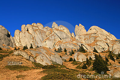 Ciucas cliffs in Romania