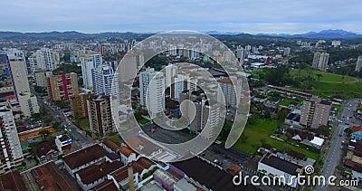 Ciudad de Joinville, estado de Santa Catarina, Brasil almacen de metraje de vídeo