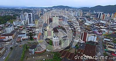 Ciudad de Joinville, estado de Santa Catarina, Brasil almacen de video
