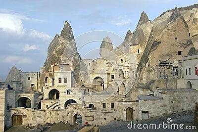 Ciudad de la cueva en Cappadocia