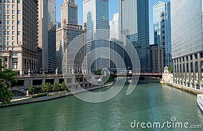 Ciudad del río de Chicago de Chicago Illinois, los E.E.U.U.