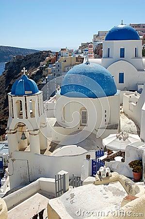 Ciudad griega pintoresca de la isla