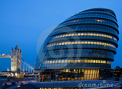 Civic Hall during the Blue Hour