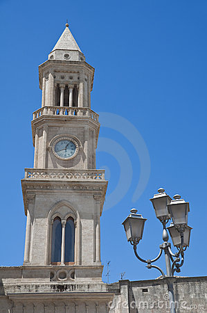 Civic Tower Clock. Altamura. Apulia.