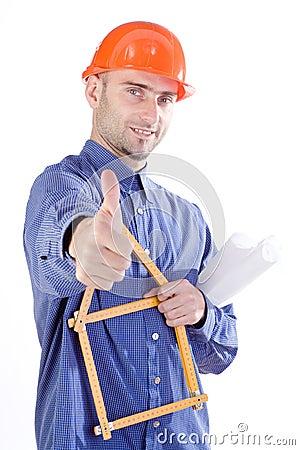 Civil engineer thumbs up