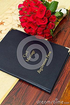 Civil marriage registration form