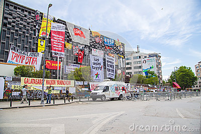 Civil protests in Turkey Editorial Stock Photo