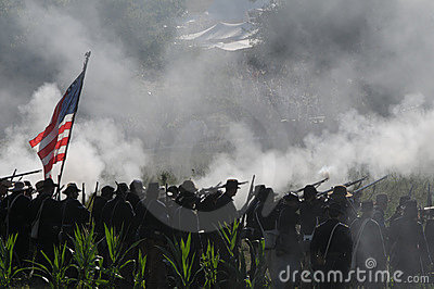 Civil War Battlefield Editorial Image