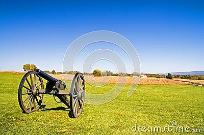 Civil War Cannon at Antietam -