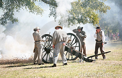 Civil War Canon Fire Editorial Stock Image