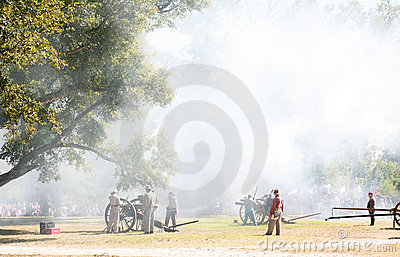 Civil War Canon Fire Editorial Image
