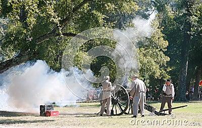 Civil War Canon Fire Editorial Photography