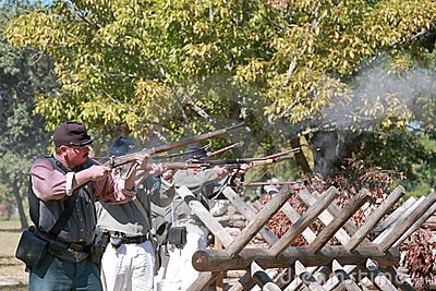 Civil War Gun Battle Editorial Stock Photo