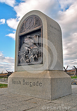 Civil War Irish Brigade Monument Editorial Stock Photo
