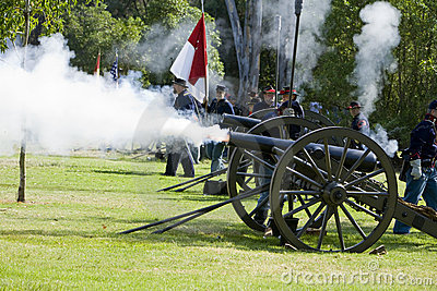 Civil War Re-Enactment 21- Union Artillery Editorial Stock Image